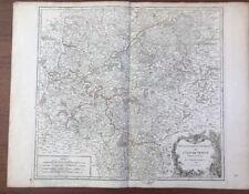 CARTE DE VAUGONDY LE GOUVERNEMENT D' ILE DE FRANCE 1754 PARIS et la Région
