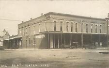 RPPC CLAY CENTER, KS Kansas  STREET SCENE Musselman's Bakery, Bank, Grocery 1908