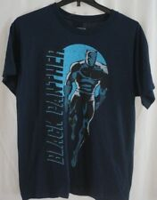 MARVEL BLACK PANTHER Navy Blue Tee T-Shirt Large NWT