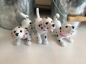 BARBIE Mattel Dalmatian Puppies Bobble Head 3 Dog Set