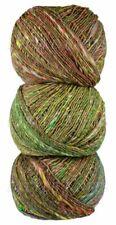 """Noro """"Kotori"""" Wool-Cotton-Silk Blend Chunky Yarn #15 Brown-Green"""