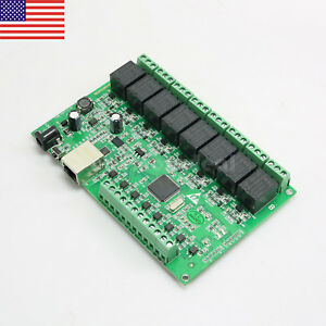 8 Channel Relay Network IP Relay Web Relay Dual Control Ethernet RJ45 interface%