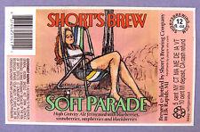 Short's Brew SOFT PARADE beer label MI 21oz STICKER