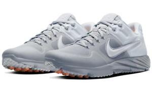 Nike Alpha Huarache Elite 2 TF Turf Baseball Shoes (Wolf Grey/White) AJ6877-007