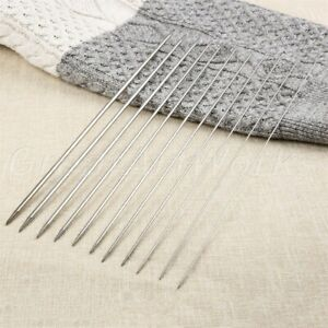 11 Size 36cm Stainless Steel Double Pointed Knitting Needles Yarn Tool 44pcs/Set
