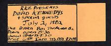 1982 Dead Kennedys Bad Religion concert ticket stub The Barn Torrance CA