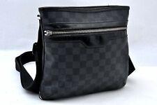 Authentic Louis Vuitton Damier Graphite Tomas Shoulder Bag N58028 LV A0892