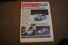 Motoring News 10 February 1988 Swedish & Wyedean Rally Emanuele Pirro Daytona