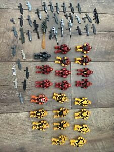 Halo Mega Bloks Construx Red And Yellow Spartan Lot