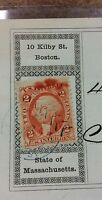R15c Amazing inking plate flaw 1872 stamp error on bank check