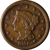 1857 Large Cent Small Date Nice VF/XF Nice Eye Appeal Nice Strike