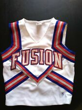 Cheerleading Top Glitter Red White Blue Size 34 Costume