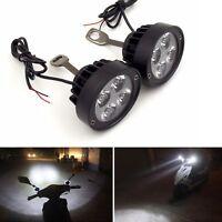 Motorcycle 4 LED Front Headlight Spot Fog Lights Head Bulb 2pcs 12V Driving