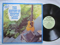 The History Of Country Music Vol 1,Vinyl lp,Radiant RRC-1011