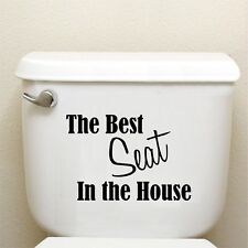 TOILET SEAT STICKER , WALL QUOTE DECAL , WATERPROOF N1