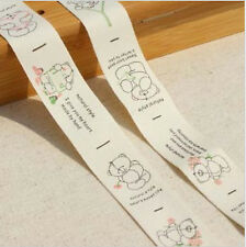 Etiqueta de algodón tejido Zakka combinado Cinta de Costura Cinta Tela del ajuste oso Correas