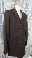 New Lauren Ralph Lauren Women 10 Chestnut Color Lined Equestrian Wool Coat $260