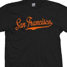 San Francisco Script & Tail T-Shirt - SF Baseball Cursive - All Sizes & Colors