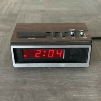 Vintage Equity SOLID STATE Alarm Clock  Model 1016 Tested Working Faux Woodgrain