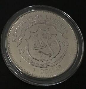 1993 LIBERIA 1 DOLLAR PROOF ( NOLAN RYAN 7 NO HITTERS)