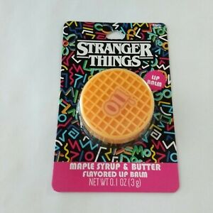 Netflix Stranger things waffle shaped lip balm Maple syrup & butter flavored New