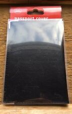 Black Luxury Passport Cover/New With Tags/Holds Uk Passport/Travel/Protects