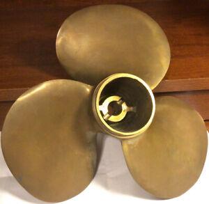 """Vintage 9"""" Brass Michigan J22 Proprller 3 Blades"""