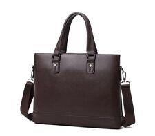 Unisex Laptop Bag 13.3 Inch Faux Leather Briefcase Bag (Brown)