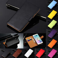 Genuine Leather Wallet Case Flip Stand Cover For Samsung Galaxy Models