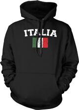 Italy Country Flag Italia Azzurri Pride Football Soccer Hoodie Pullover