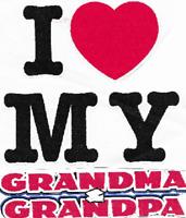 Easter i love my Grandma Grandpa kid t-shirt robber toddler youth US sz *