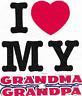Valentine i love my Grandma Grandpa kid t-shirt robber toddler youth US sz >