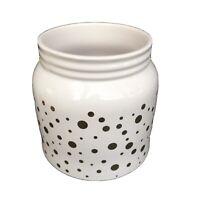 Edible Arrangements Polka Dot Container Porcelain Vase