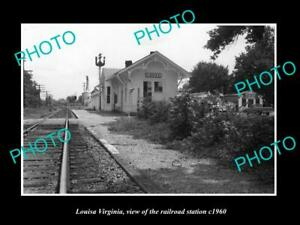 OLD 8x6 HISTORIC PHOTO OF LOUISA VIRGINIA THE RAILROAD STATION c1960