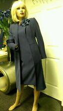 ANNE KLEIN 2 PIECE DRESS AND COAT SET NAVY SHEATH SIZE S