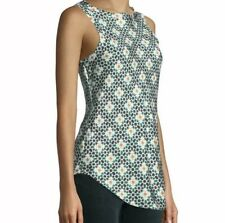 New Theory Racer 2B Blouse Size L Tile Print Silk Twill Top $335