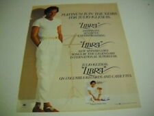 JULIO IGLESIAS Platinum Is In The Stars with LIBRA 1985 PROMO POSTER AD mint