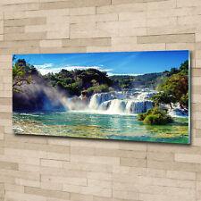 Glas-Bild Wandbilder Druck auf Glas 125x50 Deko Landschaften Krka Wasserfälle