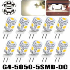 10pcs Warm White G4 5050 Led Marine Car Auto Truck Light Bulb Home Lamps 12V DC