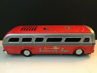 Vintage Japan 60s Tin Battery Operated Sonicon Bus With Sonic Remote
