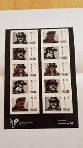 Lemmy Kilmister, Briefmarken 70ct, Stamps, Motörhead, Mit Rechnung Deutsche Post