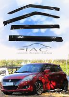 Window Visors Sun Rain Guard Vent Deflectors for Suzuki Swift Hatchback  2010-15