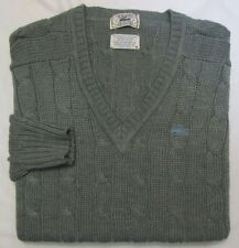 LACOSTE ~ Vintage Acrylic Blend V Neck Sweater ~ Men's Medium ~ Gray