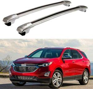 Fit for Chevrolet Equinox 2018-2020 Aluminum Roof Rail Rack Cross Bars Crossbar
