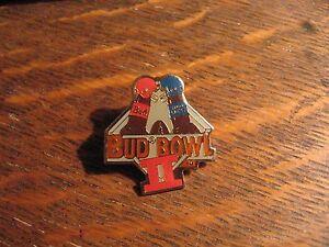 Bud Bowl II Lapel Pin - Vintage 1990 Budweiser Beer Super Bowl Football Hat Pin