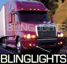 Blue Halo Fog Lamps Angel Eye Driving Lights For Freightliner Century Foglamps
