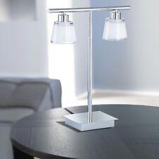 Wofi Lampe de table talea à 2 Chrome verre blanc INTERRUPTEUR 66 Watt 920 Lumen