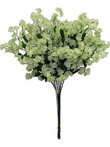 Light Sage Green Artificial Babys Breath Gypsophila Silk Flowers Centerpiece Gyp