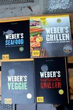GU Webers Grillen 4 Grill Bücher für Jeden Tag/Veggie/Seafood/Mediterran wie neu
