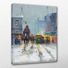 G. Harvey Turn of Century 1987 Print Oil Painting Office Art Decor Canvas 24x36